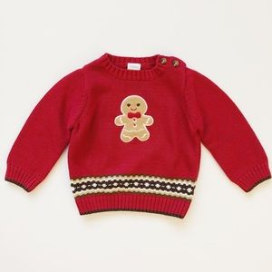 Gymboree gingerbread Christmas sweater